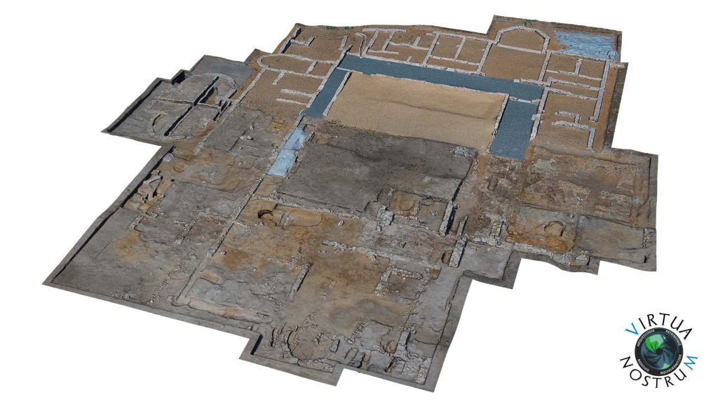 Modelo 3D completo de la villa romana de Santa Lucía (Aguilafuente)